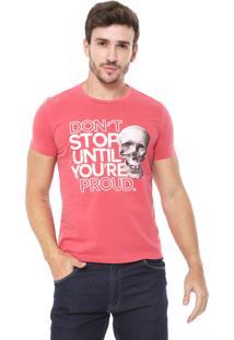 Camiseta Sergio K Dont Stop Caveira Rosa