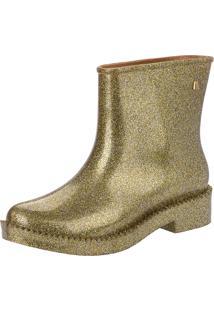 Bota Melissa Rain Drop Boot Dourada