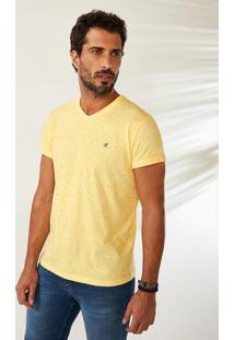 Camiseta Amarela Tradicional Em Botonê Malwee