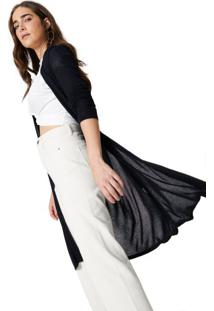 Cardigan Tricot Liso Basic