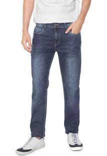 Calça Jeans Aramis Slim Milão Puidos Azul