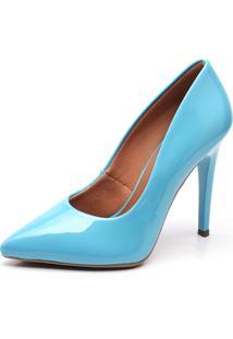 Scarpin Ellas Online Salto Alto Azul