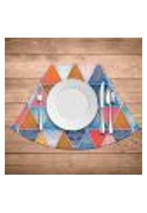 Jogo Americano Para Mesa Redonda Wevans Abstract Mandalas Kit Com 6 Pçs