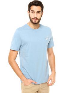 Camiseta Nautica Classic Fit Island Azul