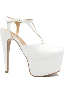 Sandália Zariff Shoes Salto Fino Fivela Branco
