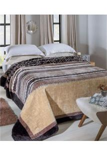 Cobertor Raschel Estampado King Size 2.60 X 2.40M Gramado Jolitex
