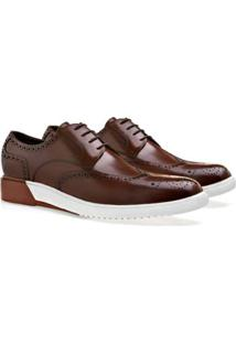 Sapato Casual Brogan Derby San Masculino - Masculino-Marrom