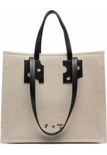 Off-White Logo-Print Tote Bag - Neutro