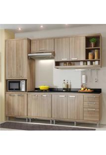 Cozinha Completa Multimóveis Com 6 Peças Sicília 5809 Argila/Argila