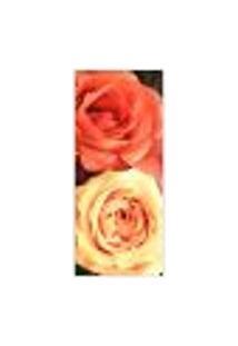 Adesivo Decorativo De Porta - Rosas - Flores - 391Cnpt Auto Colante