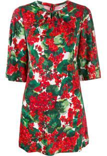 Dolce & Gabbana Floral Print Top - Vermelho