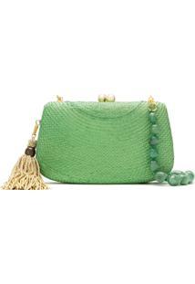 Serpui Bolsa Clutch De Palha - Verde