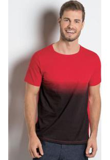 Camiseta Com Manga Curta Vermelha