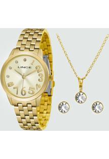 Kit Relógio Feminino Lince Lrgh079Lkv27C2Kx