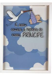 Quadro Porta Recado Mensagens De Recordação Maternidade Recém Nascido 25X35 Cm - Art Frame Branco