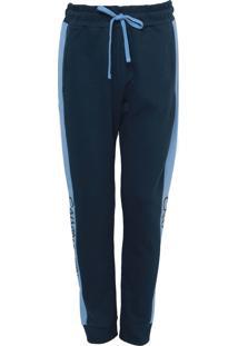 Calça Moletom Calvin Klein Underwear Jogger Lettering Azul