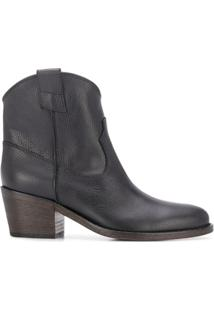 Via Roma 15 Ankle Boot Western - Preto