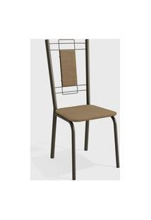Cadeira Florença Bronze/Cappuccino (Par) Kappesberg