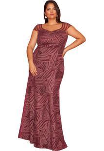 Vestido Almaria Plus Size Pianeta Tule Roxo
