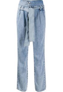 Liu Jo Calça Jeans Cintura Alta - Azul