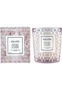 Vela Rose Colored Glasses Roses Collection Copo Texturizado 3D 40 Horas Voluspa
