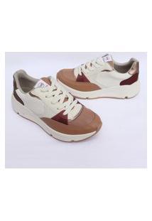 Tenis Via Marte Feminino Sneaker Chunky Slip On Sapatenis 1028 Nude