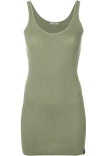 Bottega Veneta Blusa De Tricô Canelada - Verde