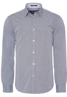 Camisa Masculina Bright Clipping Check Classic French - Preto