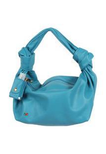 Bolsa Legítimo Azul Cobalto Premium De Mão Atz 12