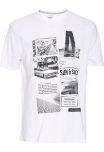 Camiseta Malwee Flamê Branca
