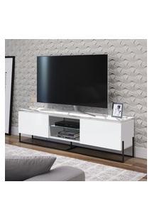 Rack Para Tv 65 Pol Artesano Vesta 2 Portas 1 Prateleira Branco E Preto