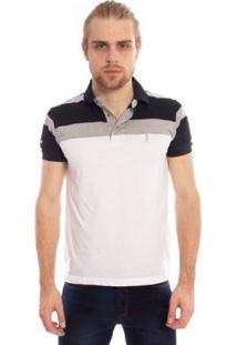 Camisa Polo Aleatory Listrada Dols Masculina - Masculino-Preto