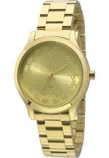 Relógio Allora Segredos Do Oriente - Feminino-Dourado