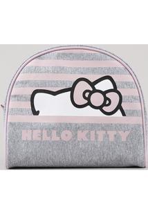 Nécessaire Feminina Hello Kitty Cinza Mescla