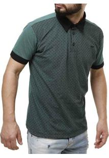 Polo Manga Curta Dixie Masculina - Masculino-Verde