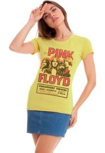 Camiseta Joss Pink Floyd Feminina - Feminino-Amarelo