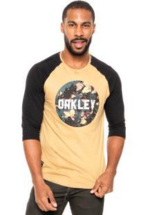 Camiseta Oakley Surface Graphic Bege/Preto