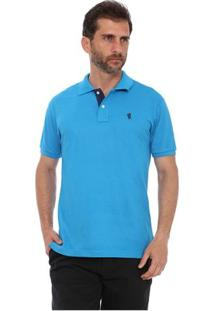 Camisa Polo New York Polo Club Slim - Masculino-Azul Turquesa