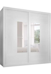 Guarda-Roupa Casal Com Espelho Dalí Branco 2 Pt 6 Gv