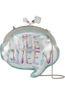 Sophia Webster Clutch 'Ice Queen Speech Bubble' - Metálico