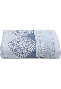 Toalha De Rosto Santista Unique Isadora Azul