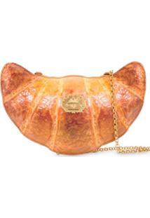 Moschino Bolsa Transversal Croissant - Laranja