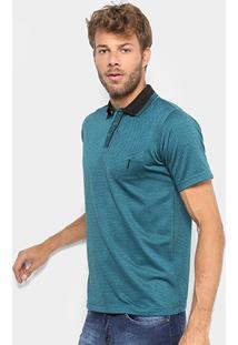 Camisa Polo Aleatory Jacquard Masculina - Masculino-Verde