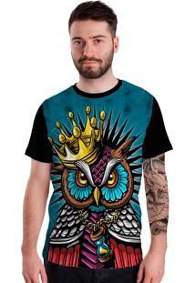 Camiseta Stompy Owl King Preto