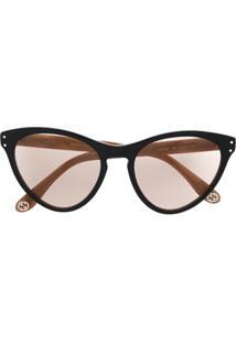 Gucci Eyewear Óculos De Sol Gatinho - Preto