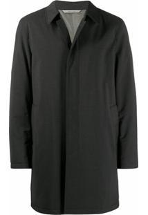 Canali Trench Coat Clássico - Preto