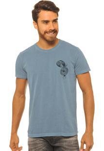 Camiseta Masculina Estonada Joss Camping Azul
