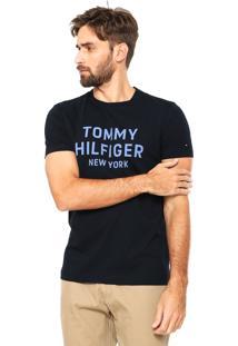 Camiseta Tommy Hilfiger Grap Azul-Marinho
