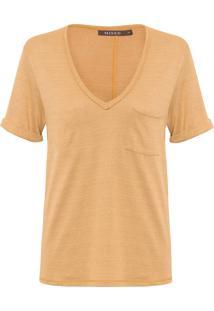 Camiseta Feminina Márcia Gold - Marrom