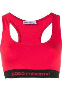Paco Rabanne Regata Decote Nadador - Vermelho